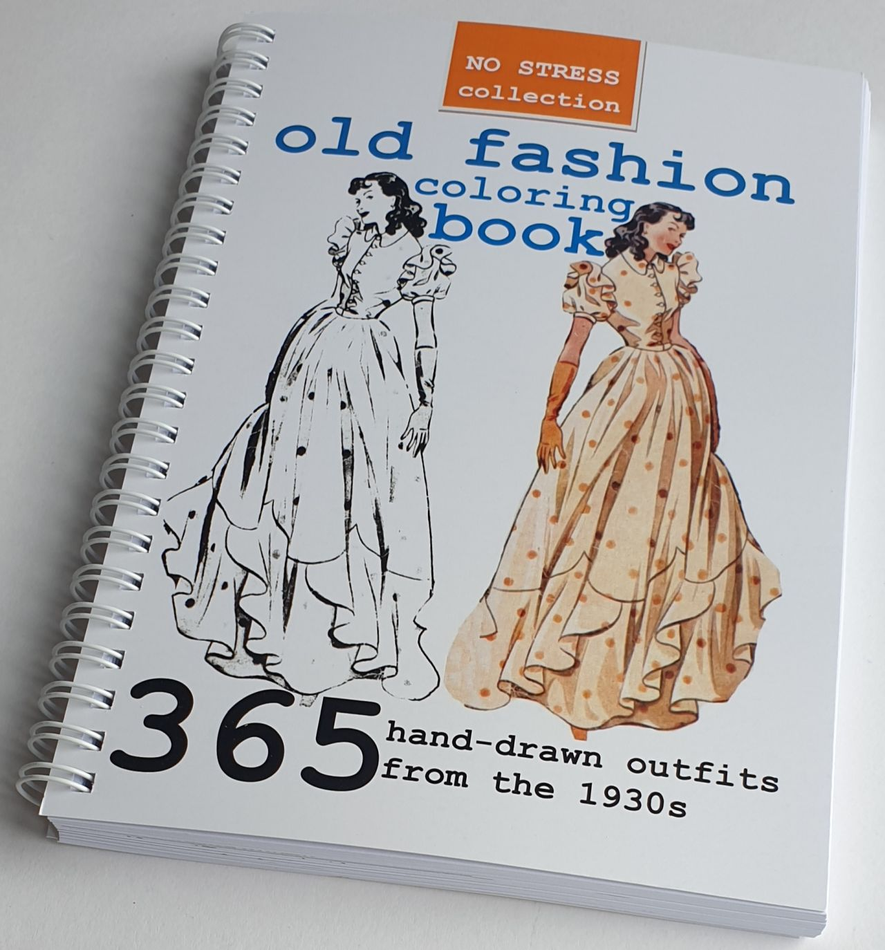 old fashion coloring book